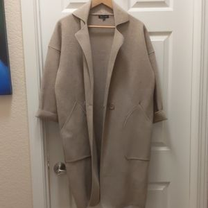 Tan trench sweater jacket